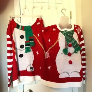 Christmas funny double sweater